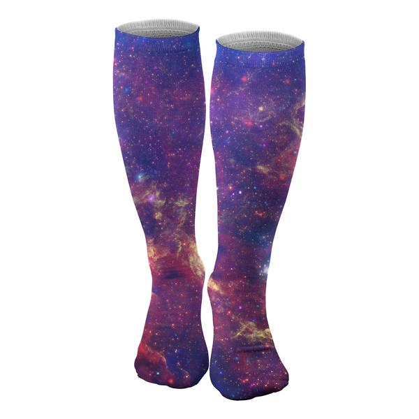Purple Nebula knee socks