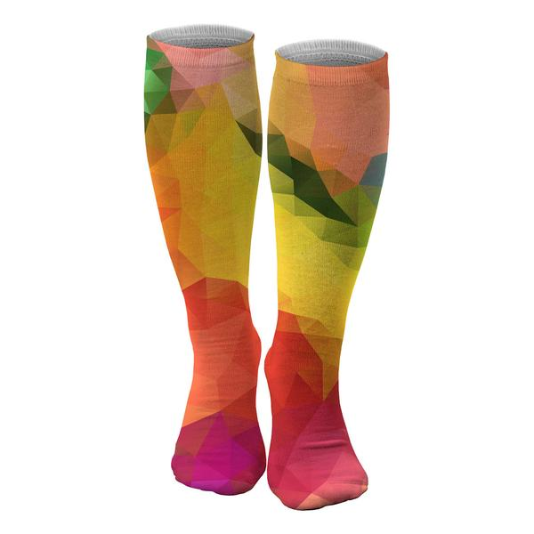 Colorful Geometric knee socks