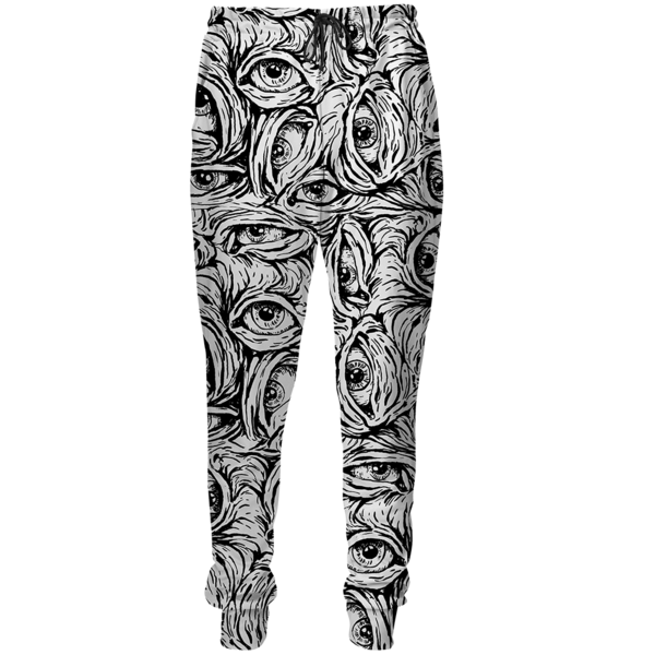 Creepy black&white sweatpants