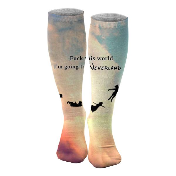 I'm going to Neverland knee socks