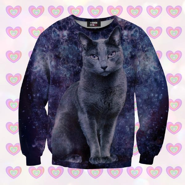 Black cat sweater for kids