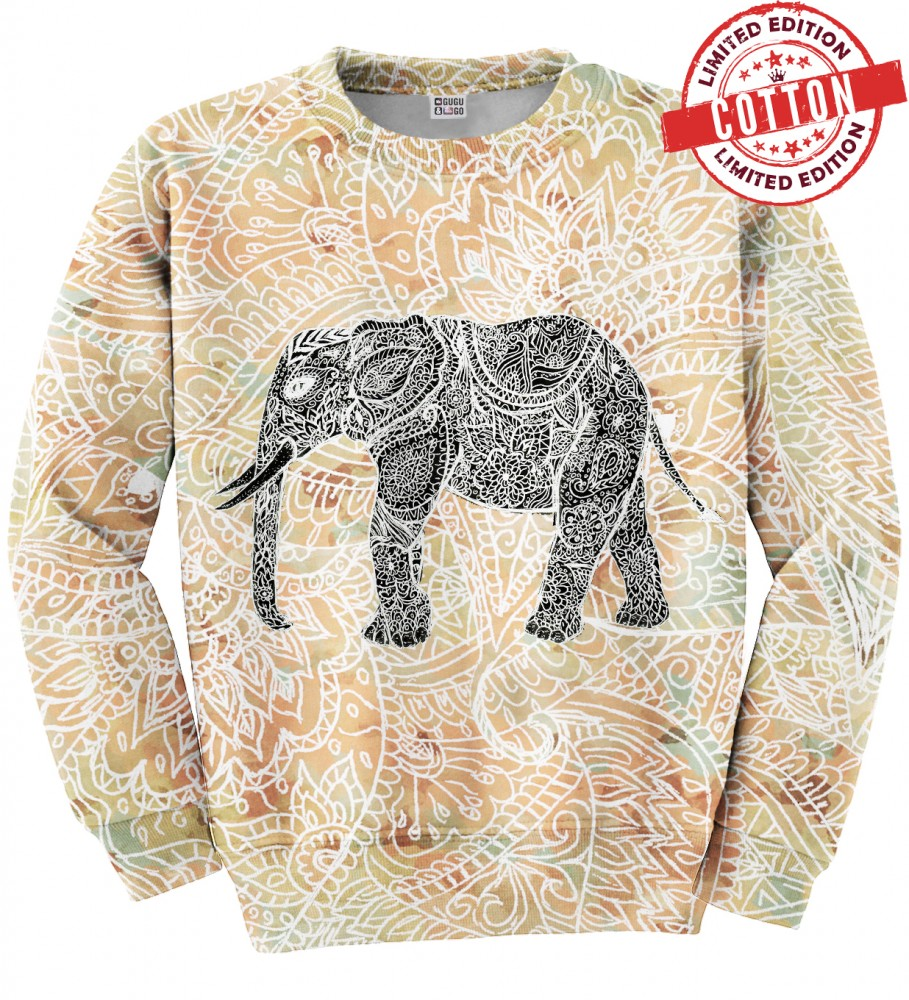 Indian Elephant Cotton Sweater