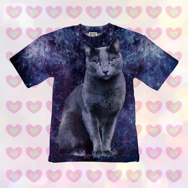 Black cat t-shirt for kids
