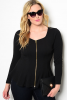 Plus Size Peplum Silhouette Top